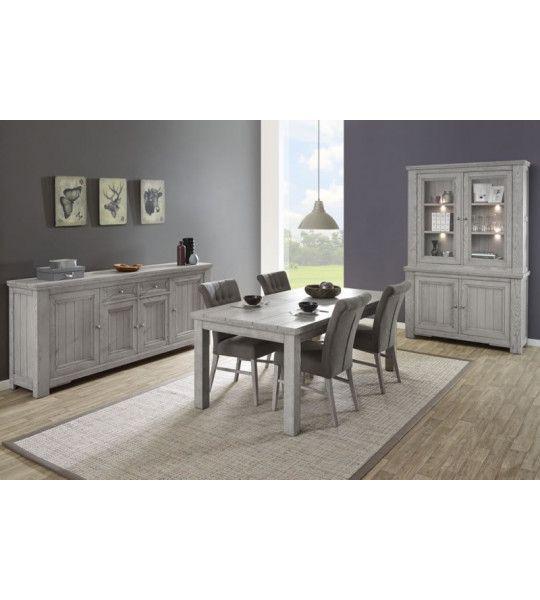 salle manger bois massif. Black Bedroom Furniture Sets. Home Design Ideas