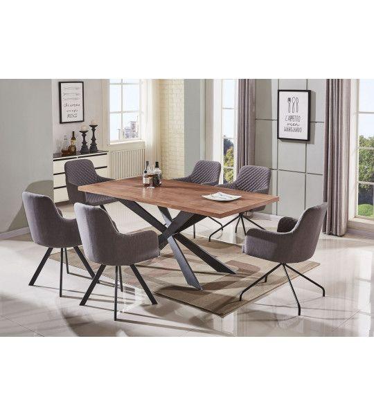 Tables rectangulaires tables de salle manger pas cher trocity - Table salle a manger loft ...