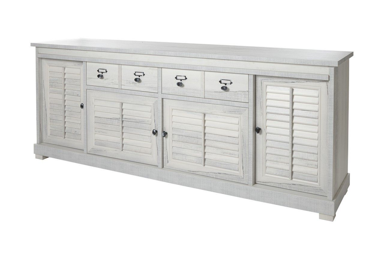Chambre Adulte Campagne Chic buffet 4 portes 2 tiroirs 240 cm campagne chic luberon