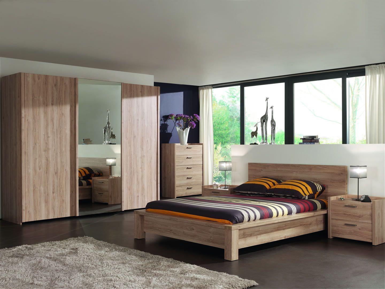 Armoire Dressing Chambre Adulte chambre complète adulte armoire penderie portes coulissantes chêne chambord  mano 180 cm
