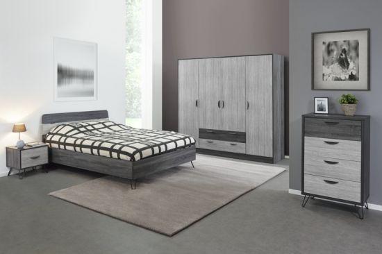Chambre à coucher complète pour adulte style industriel July