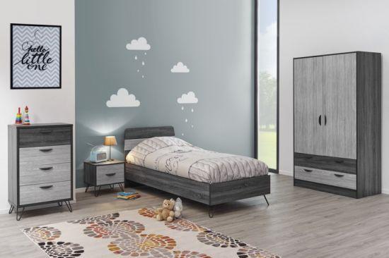 Chambre à coucher pour enfant compléte style industriel July