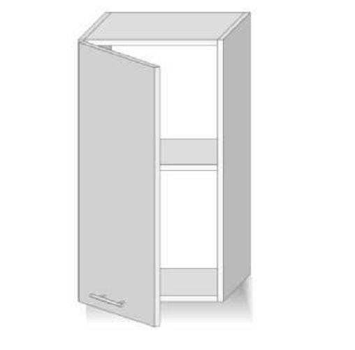 Meuble haut de cuisine 1 portes vitré 40 cm sonoma Dax
