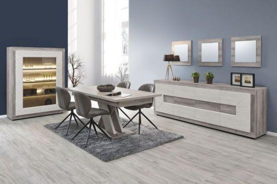 Salle à manger à LED moderne vitrine buffet table mara Delhy