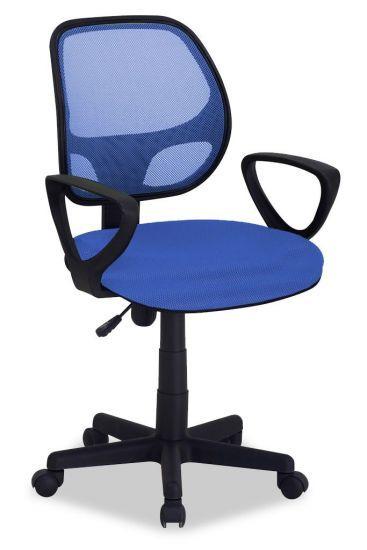 Chaise de bureau enfant à roulettes Mobix bleu