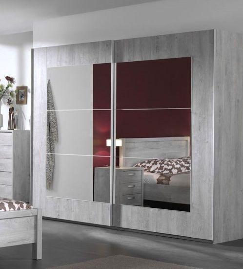 Armoire Portes Coulissantes Avec Miroir Design Joe