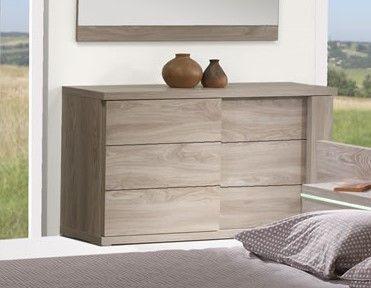 Chambre à coucher adulte lit avec éclairage et armoire 260 cm Songa
