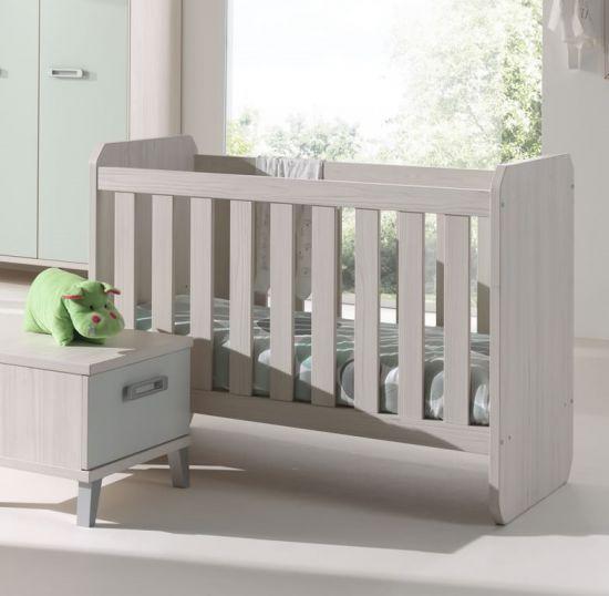 Chambre bébé complète scandinave pieds gris beige et vert Verdo