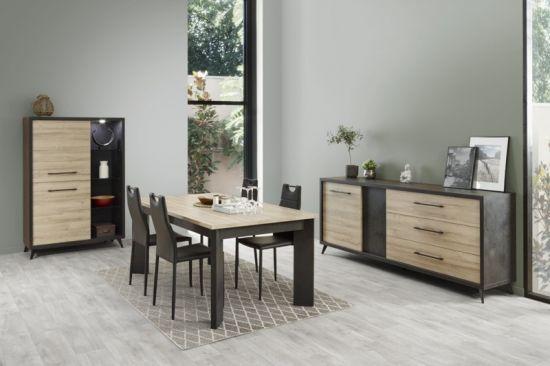 Table De Salle à Manger Style Industriel Fedo 160 Cm