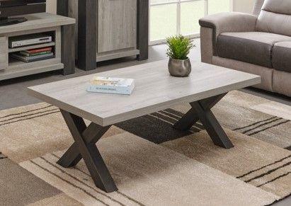 Table Basse Moderne Chene Gris Lionel