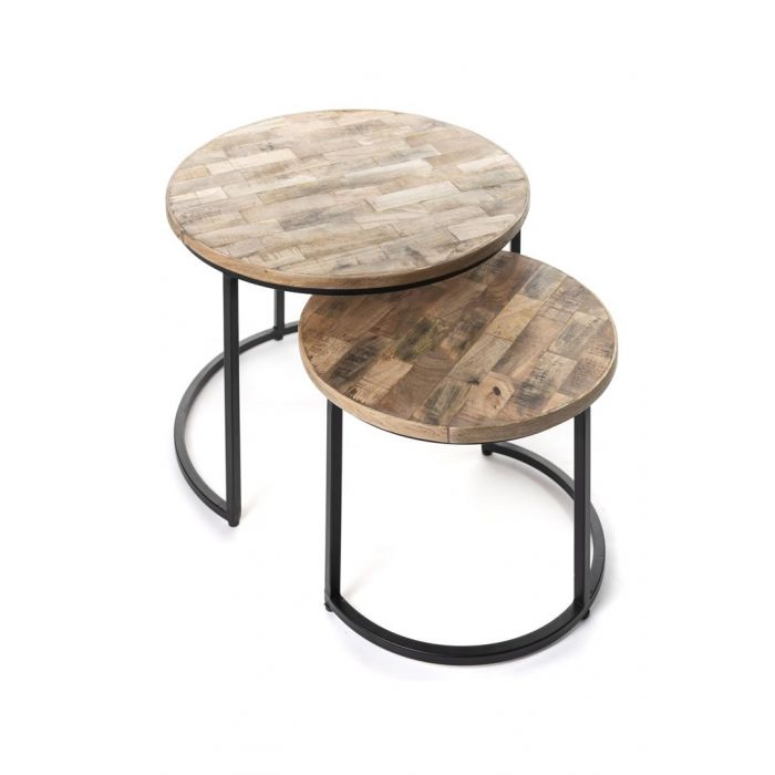 Tables Basses Gigognes Rondes Pieds Metal Chypre