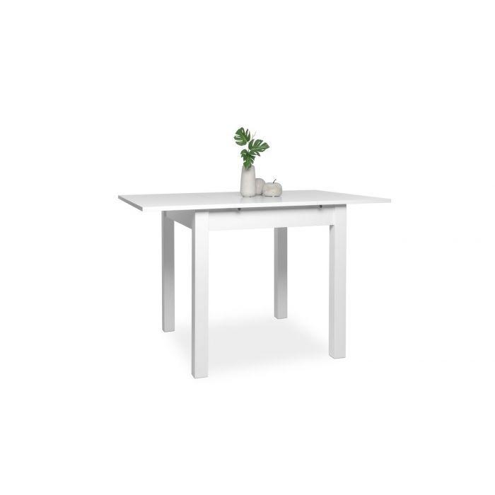 Table Carree Avec Allonge 80 120 Cm Jiminy Blanc Trocity