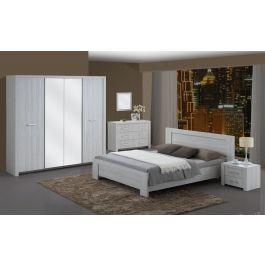 Chambre à coucher adulte contemporaine lit double 140 cm ...