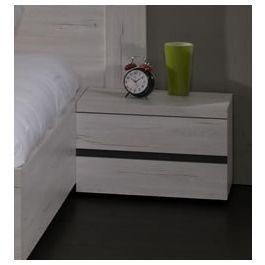 Table de chevet contemporaine 1 tiroir coloris bois blanc Grata