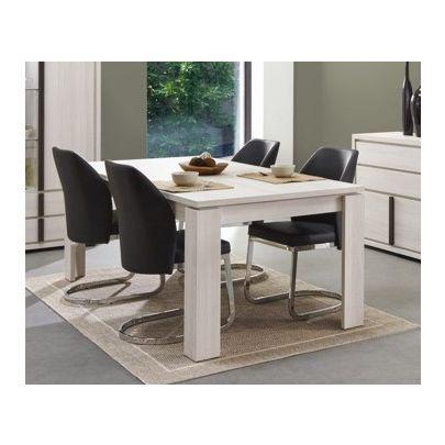 Table de salle à manger rectangulaire Cosmos chêne blanc ...