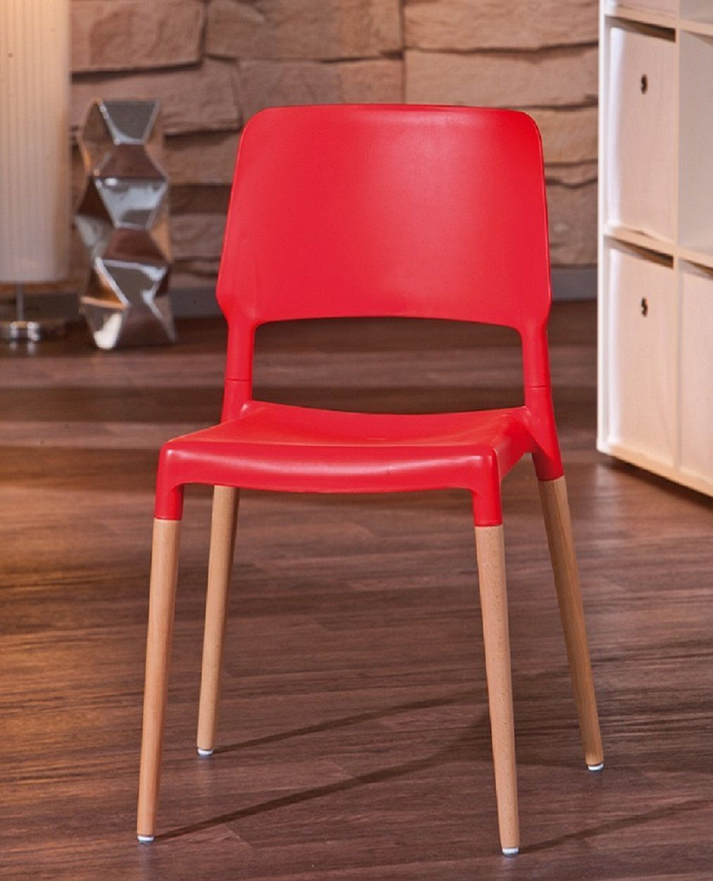 chaises tamy rouge